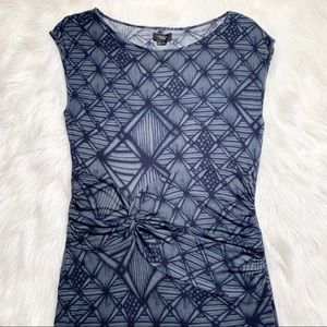 Anthropologie Dresses - Anthropologie Asymmetrical Geometric Print Dress